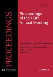 Proceedings of the ASIL Annual Meeting Volume 113 - Issue  -