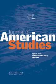 Journal of American Studies Volume 39 - Issue 2 -