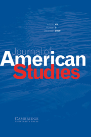 Journal of American Studies Volume 43 - Issue 3 -