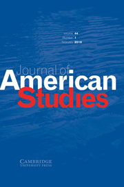 Journal of American Studies Volume 44 - Issue 1 -