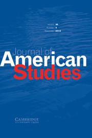 Journal of American Studies Volume 46 - Issue 4 -