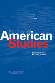 Journal of American Studies Volume 47 - Issue 2 -  Special Collection: Art Across Frontiers