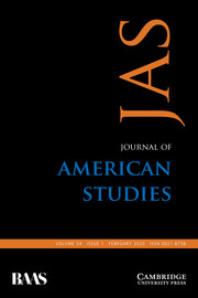 Journal of American Studies Volume 54 - Issue 1 -