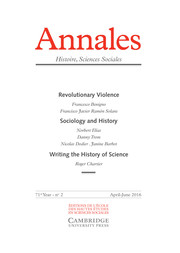 Annales. Histoire, Sciences Sociales - English Edition Volume 71 - Issue 2 -