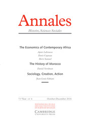 Annales. Histoire, Sciences Sociales - English Edition Volume 71 - Issue 4 -