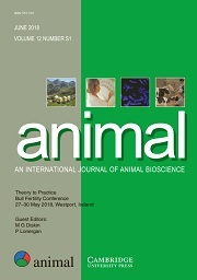 animal Volume 12 - Supplements1 -  Theory to Practice - International Bull Fertility Conference 27–30 May 2018, Westport, Ireland