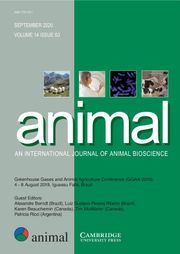 animal Volume 14 - Issue S3 -  Greenhouse Gases and Animal Agriculture Conference (GGAA 2019), 4 - 8 August 2019, Iguassu Falls, Brazil