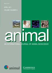 animal Volume 5 - Issue 4 -