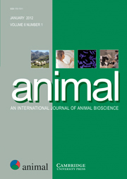 animal Volume 6 - Issue 1 -