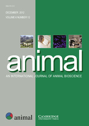 animal Volume 6 - Issue 12 -
