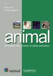 animal Volume 7 - Issue 8 -