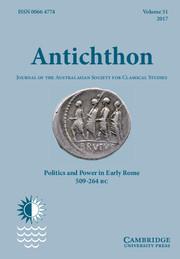 Antichthon Volume 51 - Issue  -