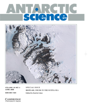 Antarctic Science Volume 20 - Issue 3 -  BIOPEARL Cruise in the Scotia Sea