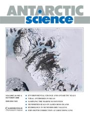 Antarctic Science Volume 20 - Issue 5 -