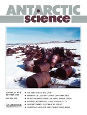 Antarctic Science Volume 21 - Issue 5 -