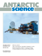 Antarctic Science Volume 22 - Special Issue6 -  The Latitudinal Gradient Project (LGP)