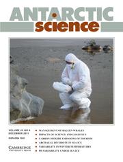 Antarctic Science Volume 23 - Issue 6 -