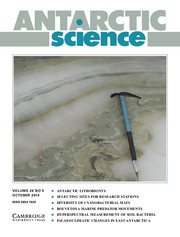 Antarctic Science Volume 26 - Issue 5 -