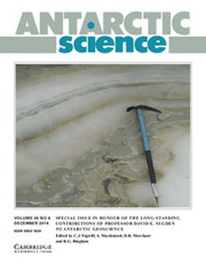 Antarctic Science Volume 26 - Issue 6 -  Special Issue in Honour of the Long-Standing Contributions of Professor David E. Sugden to Antarctic Geoscience