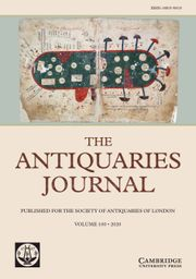 The Antiquaries Journal Volume 100 - Issue  -