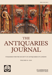 The Antiquaries Journal Volume 90 - Issue  -