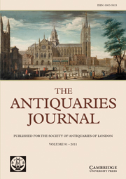 The Antiquaries Journal Volume 91 - Issue  -