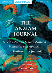The ANZIAM Journal Volume 49 - Issue 3 -