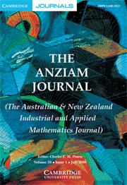 The ANZIAM Journal Volume 50 - Issue 1 -