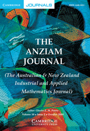 The ANZIAM Journal Volume 50 - Issue 2 -