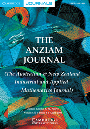 The ANZIAM Journal Volume 50 - Issue 4 -