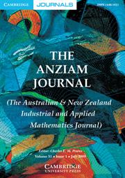 The ANZIAM Journal Volume 51 - Issue 1 -
