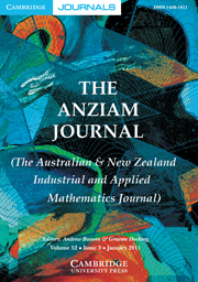 The ANZIAM Journal Volume 52 - Issue 3 -