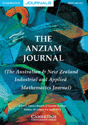 The ANZIAM Journal Volume 53 - Issue 4 -