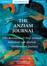 The ANZIAM Journal Volume 55 - Issue 3 -