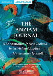 The ANZIAM Journal Volume 56 - Issue 1 -