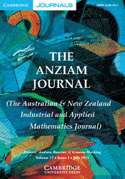 The ANZIAM Journal Volume 57 - Issue 1 -
