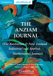 The ANZIAM Journal Volume 57 - Issue 4 -