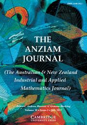 The ANZIAM Journal Volume 59 - Issue 1 -