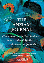 The ANZIAM Journal Volume 59 - Issue 4 -