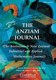 The ANZIAM Journal Volume 60 - Issue 1 -