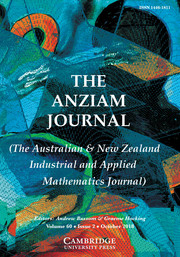 The ANZIAM Journal Volume 60 - Issue 2 -
