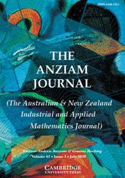 The ANZIAM Journal Volume 62 - Issue 3 -