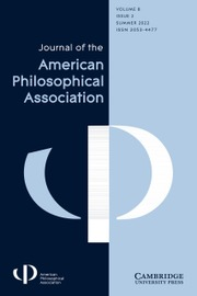 Journal of the American Philosophical Association