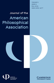 Journal of the American Philosophical Association Volume 2 - Issue 3 -