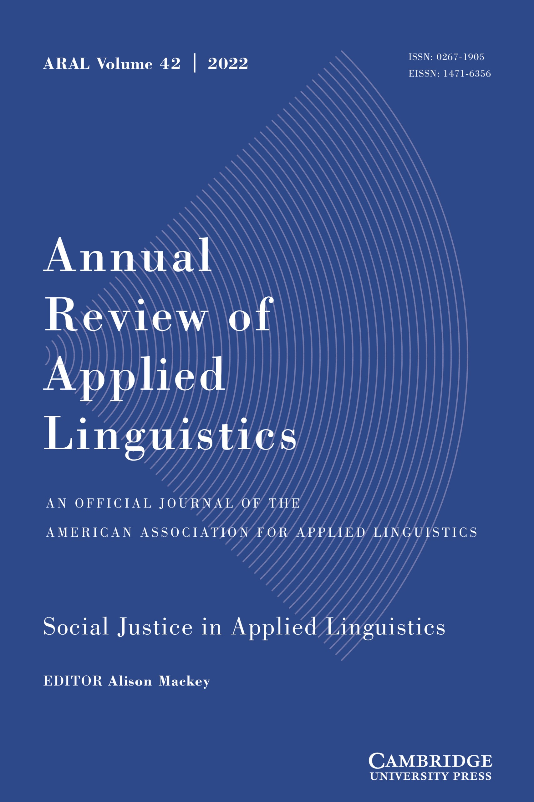 Cover of the Annual Review of Applied Linguistics