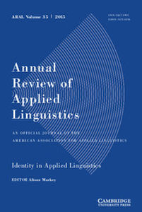 Annual Review of Applied Linguistics Volume 35 - Issue  -