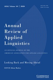 Annual Review of Applied Linguistics Volume 40 - Issue  -