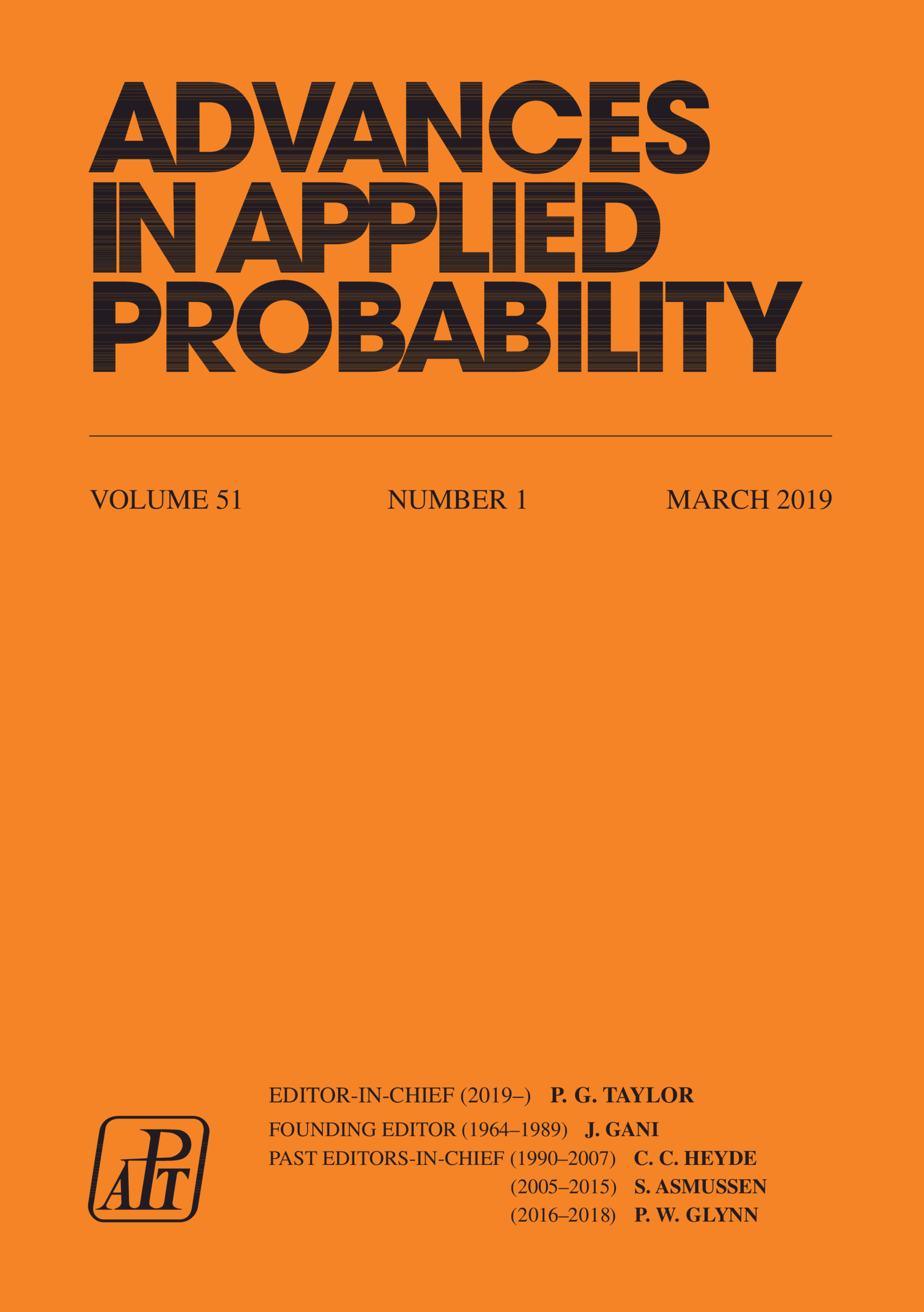 Advances in Applied Probability: Volume 51 - Issue 1