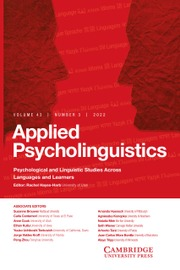 Applied Psycholinguistics
