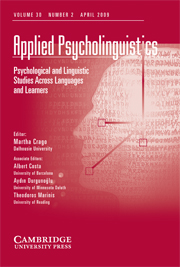 Applied Psycholinguistics Volume 30 - Issue 2 -